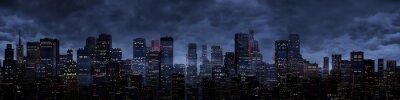 Fototapeta Panorama miasta nocy