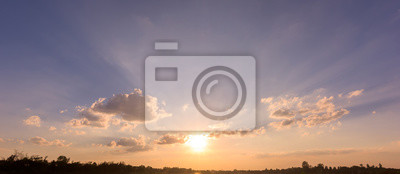 Panorama nieba słońca