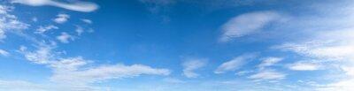 Fototapeta Panorama nieba tle bia? Ych chmury ws? Oneczny dzie ?.