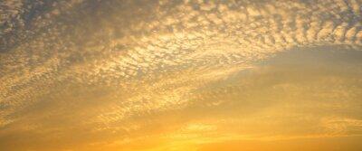 Panorama of beautiful sky sunset background