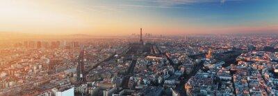 Fototapeta Panorama of Paris at sunset