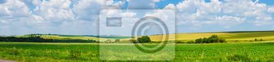 Fototapeta panorama piękny widok krajobraz pola