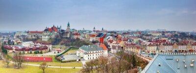 Fototapeta Panorama Starego Miasta Lublin, Polska.