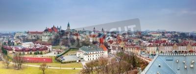 Fototapeta Panorama starego miasta Lublin, Polska. Widok z zamku.