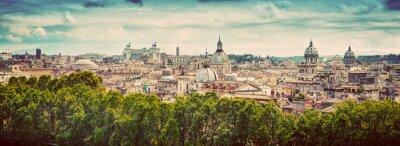 Fototapeta Panorama starożytnego miasta Rzym, Włochy. Zabytkowe