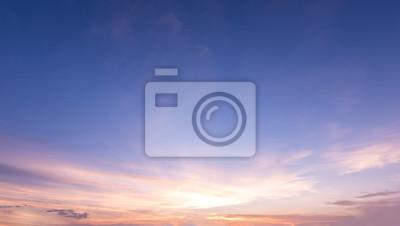 Panorama tle nieba słońca