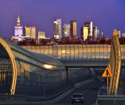 Fototapeta Panorama Warszawy Nowoczesnej