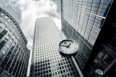 Fototapeta Panorama widok budynków skyline w Canary Wharf