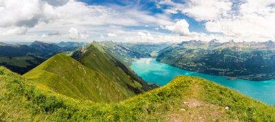 Fototapeta Panorama z Brienzersee, Augstmatthorn, Brienz, Berner Oberland, Schweiz