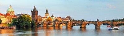 Fototapeta Panorama z mostu Karola w Pradze, Republika Czeska