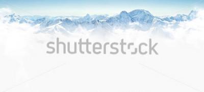 Fototapeta Panorama zim góry z kopii przestrzenią
