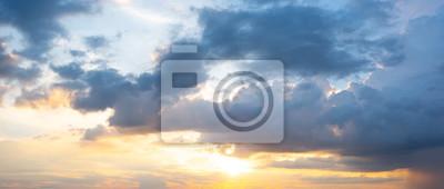 Panorama zmierzchu nieba tło