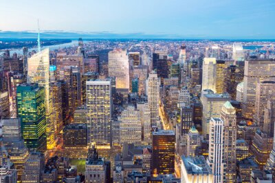 Fototapeta Panoramę Nowego Jorku zmierzchu.