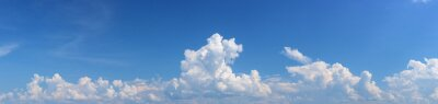 Panoramic beautiful sky with white clouds