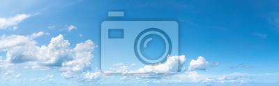 Fototapeta Panoramic fluffy cloud in the blue sky