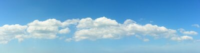 Panoramic of white clouds on blue sky