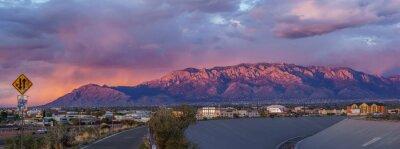 Fototapeta Panoramic View Of City During Sunset
