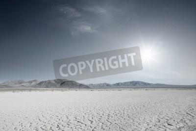 Fototapeta panoramiczny widok ładnej gorącej pustyni Nevada dnia