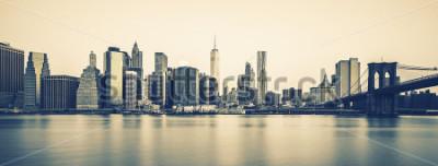 Fototapeta Panoramiczny widok na Nowy Jork na zmierzchu, specjalne przetwarzanie fotograficzne