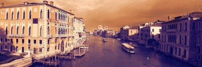 Fototapeta Panoramiczny widok na słynnym Canal Grande