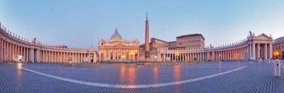 Fototapeta Panoramiczny widok na Watykan, Rzym.