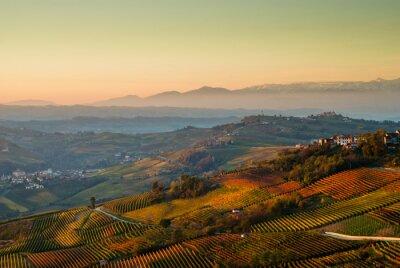 Fototapeta Panoramiczny widok nelle Langhe del Piemonte