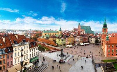 Fototapeta Panoramiczny widok Warszawy