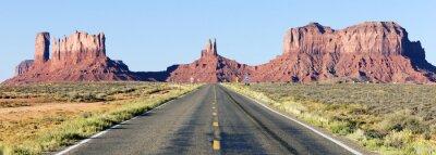 Fototapeta panoramiczny widok z drogi do Monument Valley