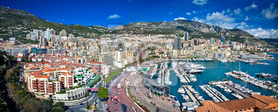 Fototapeta Panoramiczny widok z Monte Carlo w Monako.