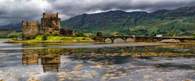 Fototapeta Panoramiczny z Eilean Donan Castle, Highlands, Szkocja