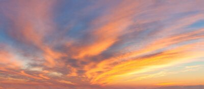 Fototapeta Panoranic Sunrise Sky with colorful clouds