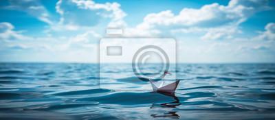 Fototapeta Paper Boat