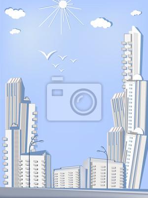 Papier miasto - wieżowce
