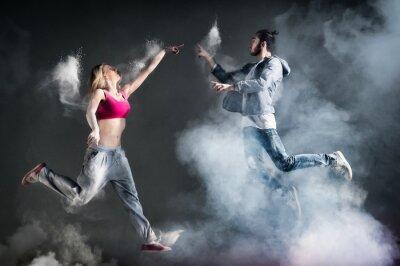 Fototapeta Para de obligacji avec danseur