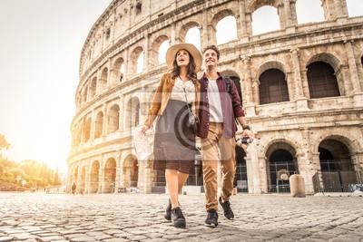 Fototapeta Para w Koloseum, Rzym