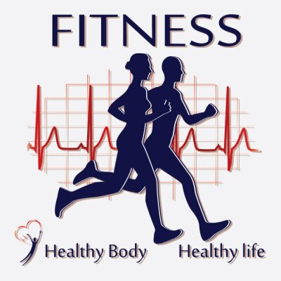 Fototapeta Para wektor Fitness icon