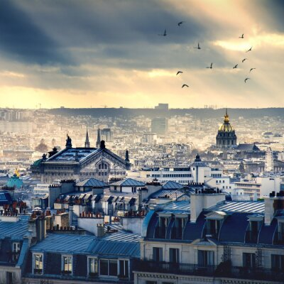 Fototapeta Paris miasta pochodzi z Montmartre