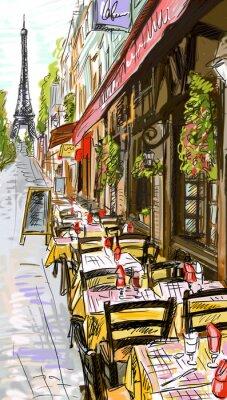 Fototapeta Paris street - ilustracji