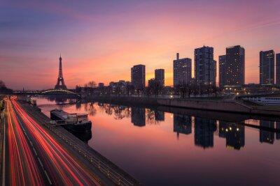 Fototapeta Paris sunrise / Paris dźwignia de soleil