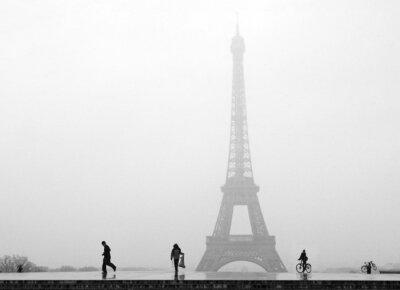 Fototapeta Paris Tour Eiffel sous la neige