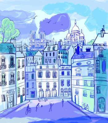 Fototapeta Paris w stylu akwareli