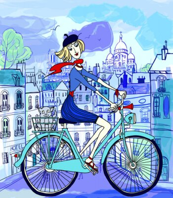 Paris w stylu akwareli