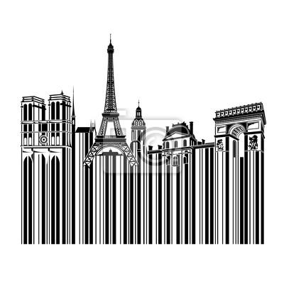 Paris w stylu Bar Code