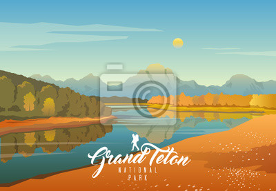 Fototapeta Park Narodowy Grand Teton. Natura Wyoming. Moran.