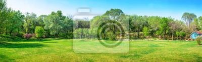 Fototapeta Park wczesną wiosną. Znajduje się w Shenyang Botanical Garden, Shenyang, Liaoning, Chiny.