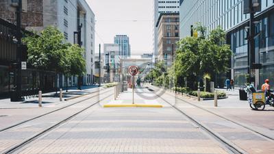 Fototapeta parkowa ulica miasta