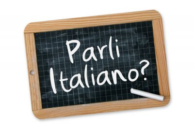 Fototapeta Parli Italiano?