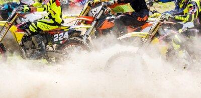 Fototapeta partenza w Gara di motocross