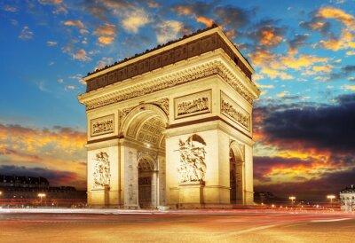 Fototapeta Paryż, Łuk Triumfalny, Francja