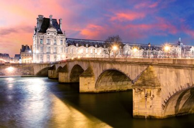 Fototapeta Paryż - most Pałac Królewski i Luwr
